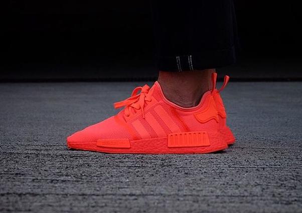 adidas nmd rouge fluo pour des sorties bon marché