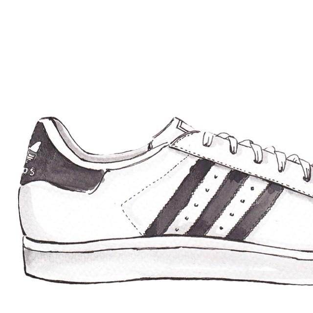 adidas superstar dessin pour des sorties bon marché