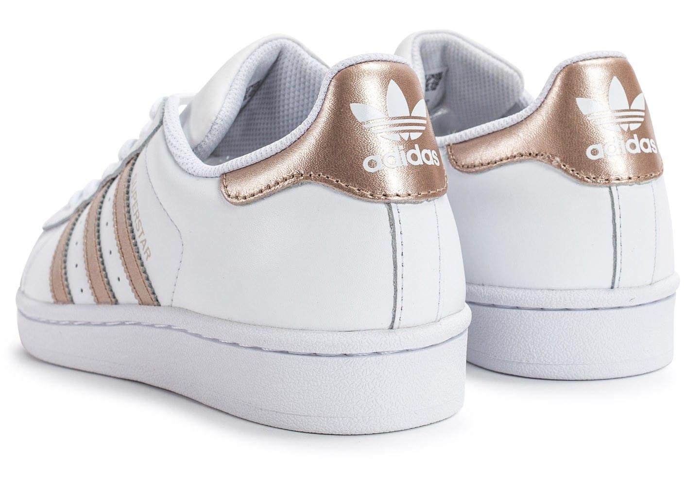 adidas superstar femme rose gold pour des sorties bon marché