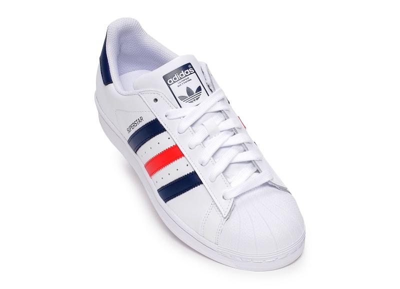 adidas superstar blanche et multicolor
