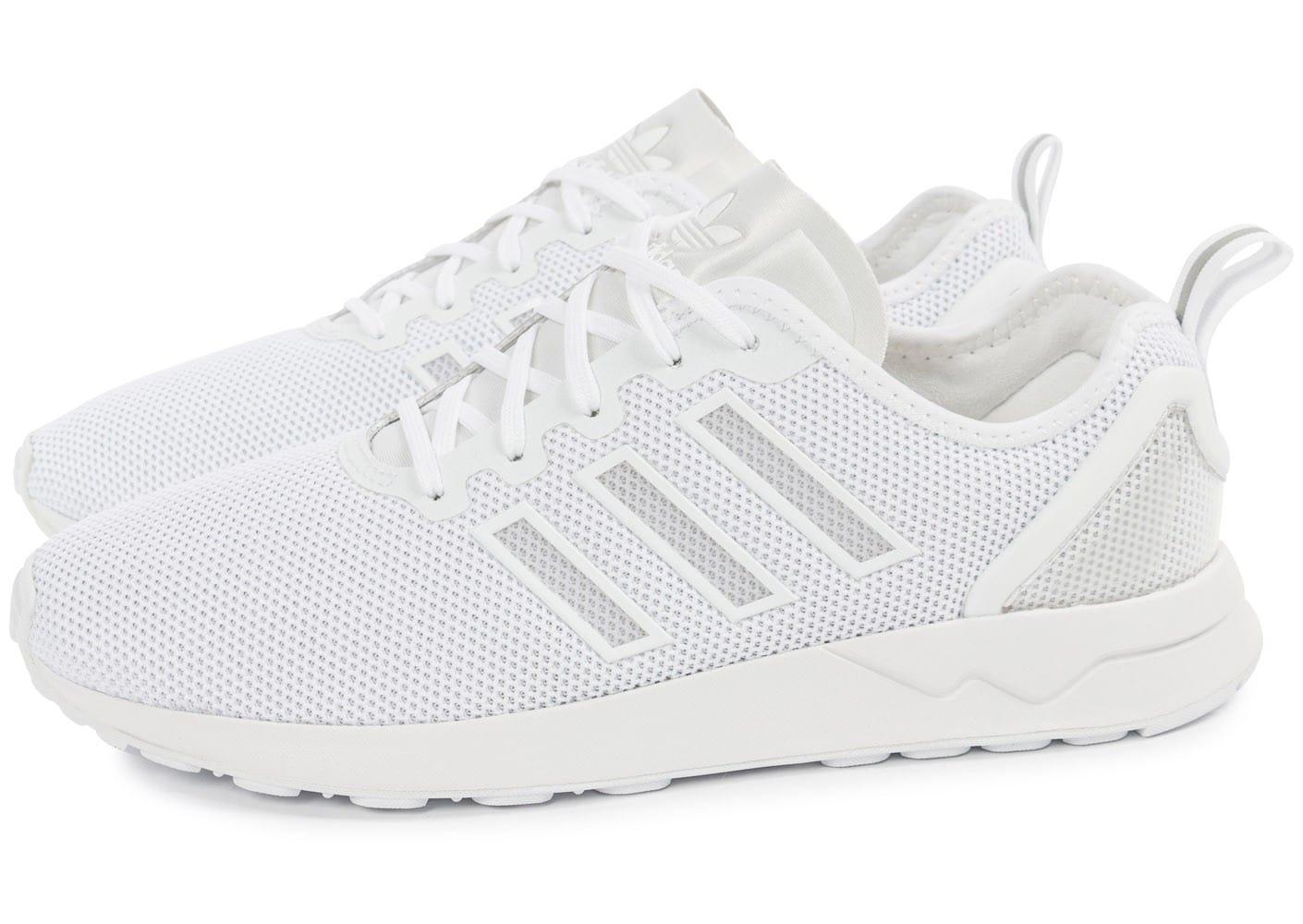 adidas zx flux adv blanche pour des sorties bon marché